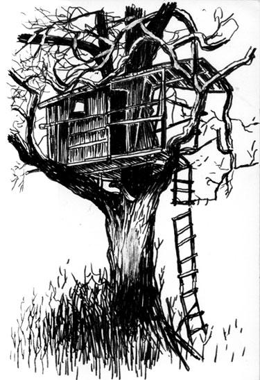 Novembre 2005 e m dessins illustrations gravures - Dessin cabane ...